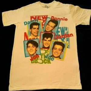 Vintage Shirts - VTG 1989 NEW KIDS ON THE BLOCK T-SHIRT SMALL